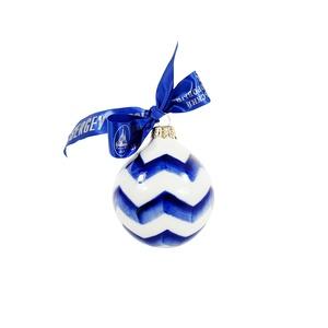 Ёлочная игрушка Шар (зигзаг) - 993320911